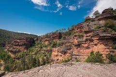 River Gallo canyon in Guadalajara, Spain. River Gallo canyon in Guadalajara, Spain stock photography
