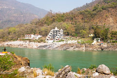 The river Ganges near Laxman Jhula in India Royalty Free Stock Photography