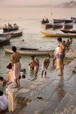 River Ganges in Varanasi - India royalty free stock image