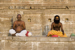 River Ganges in Varanasi - India stock photography