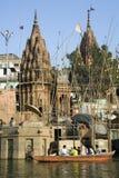 River Ganges in Varanasi - India royalty free stock photo
