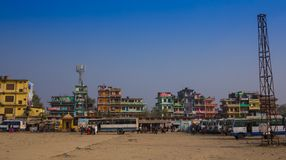 On the river Ganges in Varanasi. India Royalty Free Stock Photo