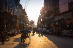 On the river Ganges in Varanasi. India Stock Images