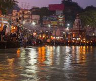 On the river Ganges in Varanasi. India Royalty Free Stock Image