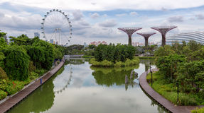 River at the Gardens by the Bay stock photo