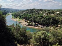 River. The Gardon river in Provence region of France Stock Images