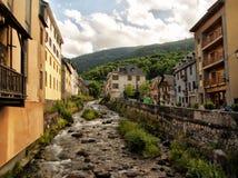 River Garona Vielha centre Catalonia Spain Stock Photo