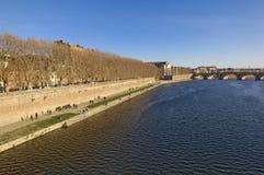 River Garonne and Toulouse, Midi Pyrenees, Royalty Free Stock Photo
