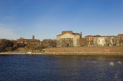 River Garonne and Toulouse, Midi Pyrenees, Royalty Free Stock Photography