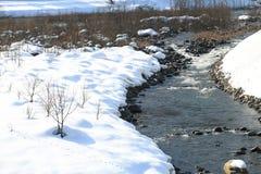 River at Gassho-zukuri Village/Shirakawago Royalty Free Stock Photography
