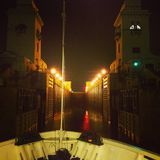 River gateway. One of the many locks of the Volga River Royalty Free Stock Photos