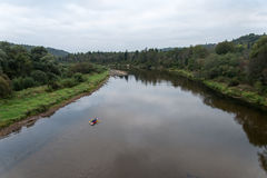 River of Gauja and forests from above stock photography