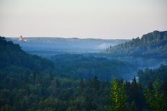 River Gauja valley royalty free stock image