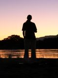 River gazing Royalty Free Stock Photography