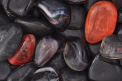 River gemstones B. Close view of river gemstones Stock Image