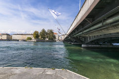 River in geneva Stock Photo