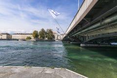 River in geneva Stock Photo