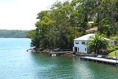 River get away home. A picture taken at Tuross heads Australia stock image