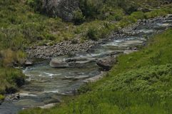 River in Giants Castle KwaZulu-Natal nature reserve Stock Images