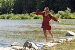 River girl Royalty Free Stock Images