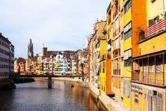 River  at Girona in day time Stock Images