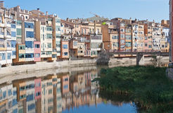River in Girona. Spain. 11 of September, 2010 Royalty Free Stock Photography