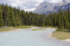 River with glacial water Stock Photo