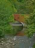 River Glenderamackin, old railway track and bridge Royalty Free Stock Photo