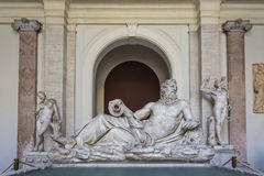 River god & x28;Arno& x29;. Octagonal Court, Pio Clementino Museum, Vatican Museums, Vatican City Stock Photo