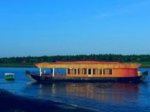 River godavari. Boat in the river godavari Royalty Free Stock Images