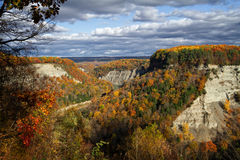 River Gorge in the Fall. Letchworth State Park, Upstate New York in the Fall Stock Photo