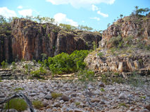 River gorge in Katherine Australia. River bed in gorge in Katherine Australia Royalty Free Stock Images