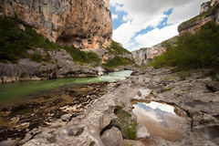 River and gorge of Lumbier in Navarre Royalty Free Stock Photography