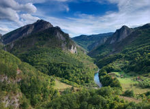 River gorge in mountains Stock Photography