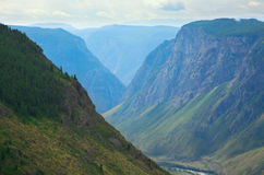 River gorge in the mountains Chulyshman Stock Photo