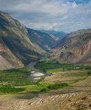 River gorge in the mountains Chulyshman Stock Images