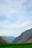 River gorge in the mountains Chulyshman Royalty Free Stock Photography