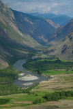 River gorge in the mountains Chulyshman Stock Photography