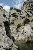 River in Gorges de Galamus, France Royalty Free Stock Photo
