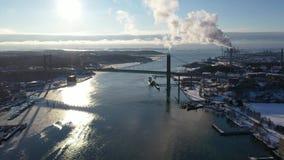River in Gothenburg in winter