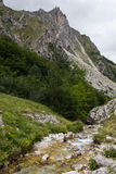 River on Gran Sasso d'Italia mountain Stock Images