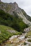 River on Gran Sasso d'Italia mountain Stock Images