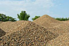 River gravel pile Royalty Free Stock Photos