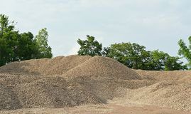 River gravel pile. The river gravel pile is sold for cement use in construction Stock Photography