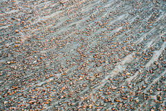 River gravelbar texture and pattern Royalty Free Stock Photos