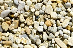 River gravels. Various types of stones rounded by water, river gravels Stock Photo