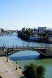 River Guadalquiver in Seville in Andalucia Spain Stock Photo