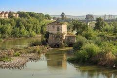 River guadalquivir in cordoba. Spain stock photos