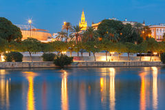 River Guadalquivir and Giralda in Seville, Spain Stock Photo