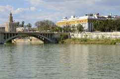 The river Guadalquivir Stock Photography
